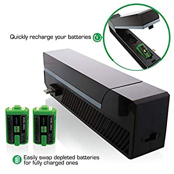 Nyko Modular Power Station - 2 Port Power Station with 2 Rechargeable Batteries for Xbox One