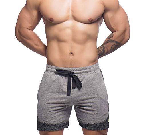 Andrew Christian Herren Kurze Sporthose Vibe Training Shorts 6456, grau L