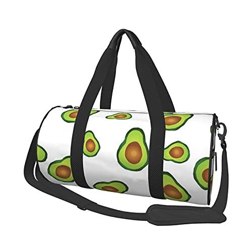 MBNGDDS - Borsone da viaggio con frutta tropicale fresca e avocado, leggero e pieghevole, impermeabile, con tracolla, borsa sportiva da palestra per uomini e donne, Come mostrato, Taglia unica,