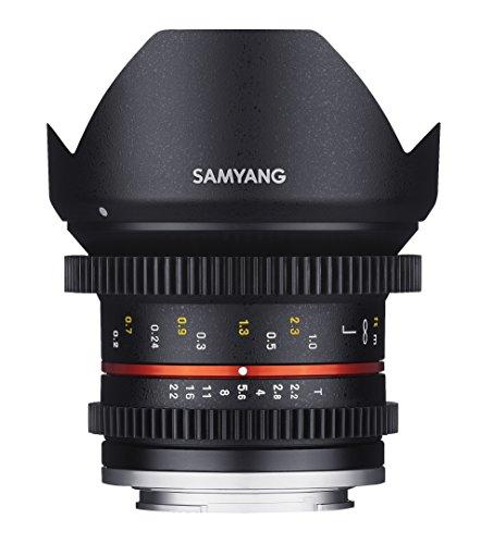 SAMYANG 14012T2.2F 12 mm T2.2 Cine NCS CS Objektiv für Anschluss Fuji X schwarz