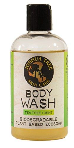 Joshua Tree 8 oz. Body Wash, Shampoo - Biodegradable Plant Based Eco Soap with Organic Ingredients (Tea Tree + Mint)