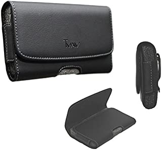 TMAN® XL Size Leather holster carry pouch case for HTC Desire 626 (fits the phone with Otter Box / Dual Layer Hybrid Case))