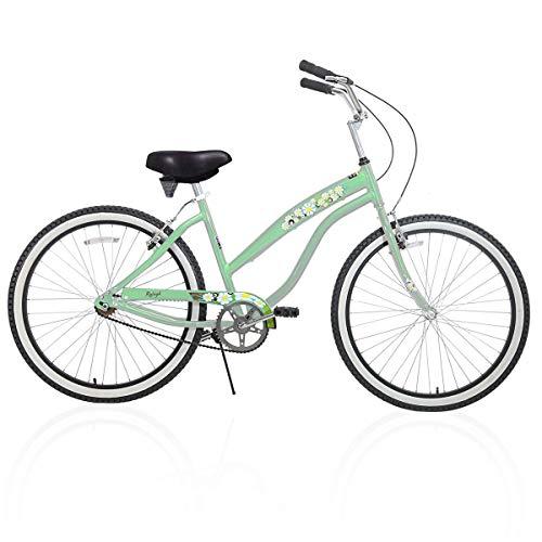 Hiland 26 Inch Women's Bike Single Speed Beach Cruiser Bicycle Mint Green