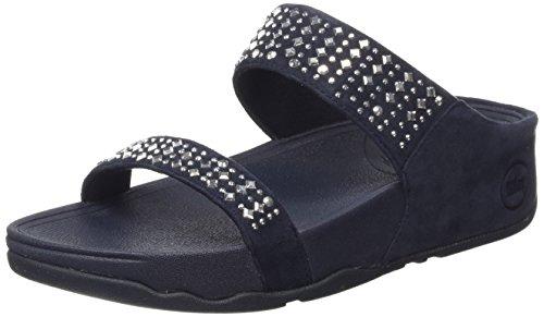 FitFlop Women's Novy Slide Sandal, Supernavy, 8 M US