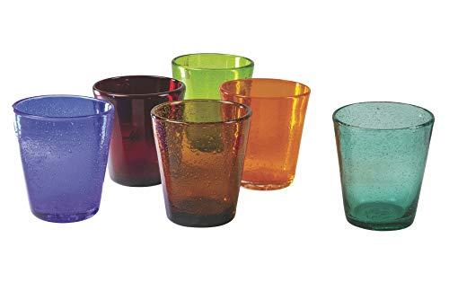 Villa D'Este Home Tivoli Mexico Set Bicchieri Acqua, 6x330 ml, Multicolore