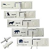 Juego De 5 Puños De Presión Arterial Veterinarios Desechables para Mascotas, Manguito De Esfigmomanómetro para Monitor De Animales, para Hámster/Gato/Perro/Caballo/Elefante,Mix