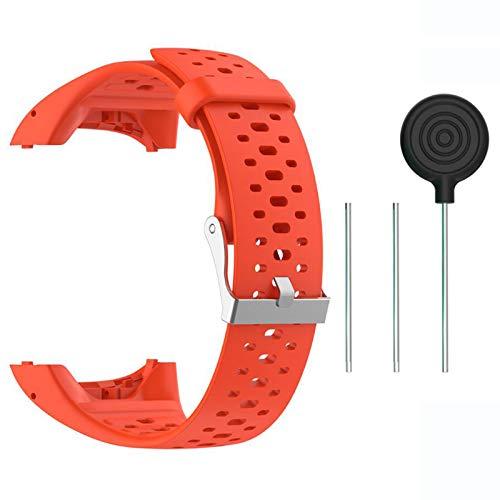 Saisiyiky Accesorio Reemplazo de Liberación Rápida Banda de Reloj de Silicona Suave Pulsera de Correa Deportiva para M400 / M430 GPS Reloj smartwatch (Naranja)