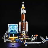Kit di Illuminazione A LED per Lego City Space Port Razzo Spaziale E Centro di Controllo,Compatibile con Il Modello Lego 60228 Mattoncini da Costruzioni - (Non Incluso nel Modello)