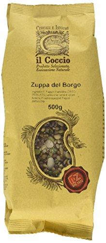 Il Coccio Zuppa del Borgo - Mix di Legumi e Cereali per Zuppe - Pacco da 10 x 500 gr - Totale: 5000 gr