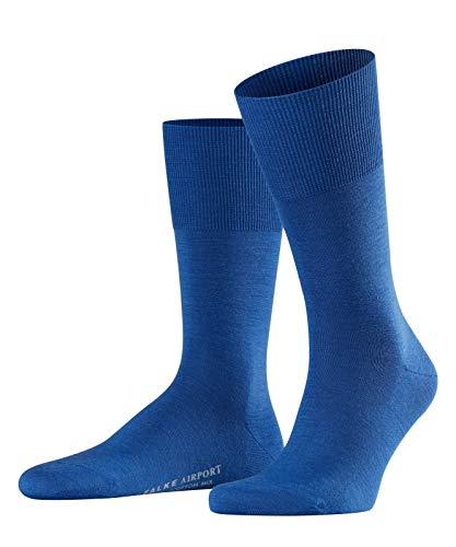 FALKE Herren Socken Airport - Merinowoll-/Baumwollmischung, 1 Paar, Blau (Sapphire 6055), Größe: 43-44