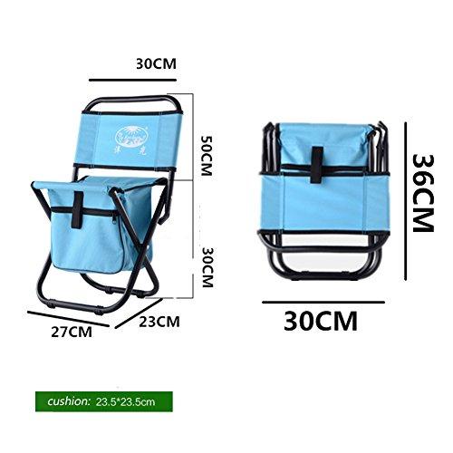 Lesfit portable pliant tabouret Outdoor Replier Léger Camp Aluminium tabourets