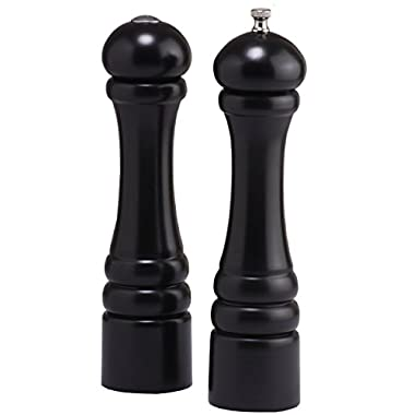 Chef Specialties 10  Imperial Pepper Mill and Salt Shaker Set, Ebony