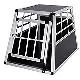 Elightry Transportín Perro de Aluminio Transporte de Viaje para Perros Gatos Mascotas 1 Puerta Negro YDLGL0002sz