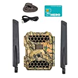 4GLTE Wireless Trail Camera - Snyper Cellular Trail Cameras 12MP/1080P Wireless Trail Camera with 2' LCD Screen - Sends to Any Network Phone. GPS Camera Tracking