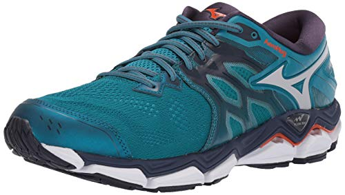 Mizuno Men's Wave Horizon 3 Running Shoe, Ocean Depths-Cloud, 12 D US