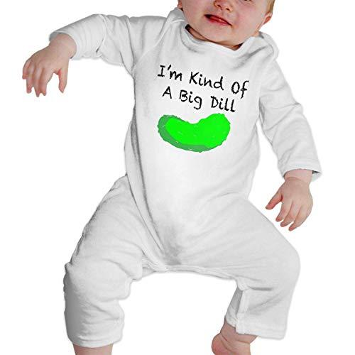 DJNGN m Kind of A Big Dill Deal Baby Body de Manga Larga de algodón Pijama Infantil para niños y niñas
