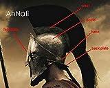 AnNafi Casco medieval espartano griego 300 Movie King Leonidas Casco romano cobre con ciruela roja