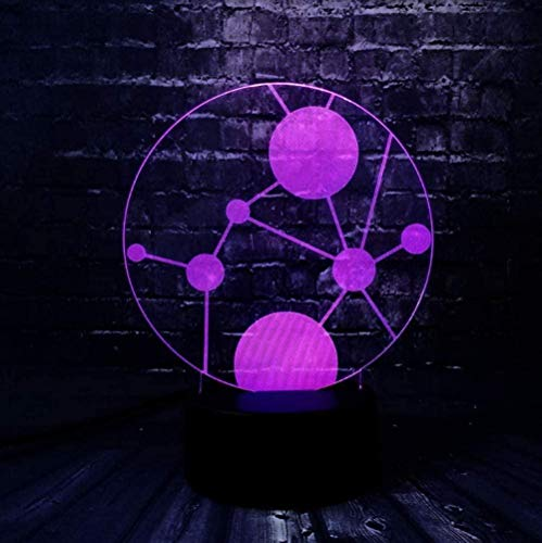 YOUPING Lava 3D Creative Circle Geometric LED Change Acrylic Bedside Decor USB Table Night Mood Lamp Birthday Gift ping-Touch