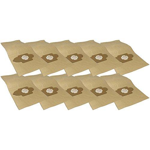 10 Industrie- Baustellen- Gewerbe- Heavy Papier Staubsaugerbeutel passend für Mauk NTS 1.450W 30 L