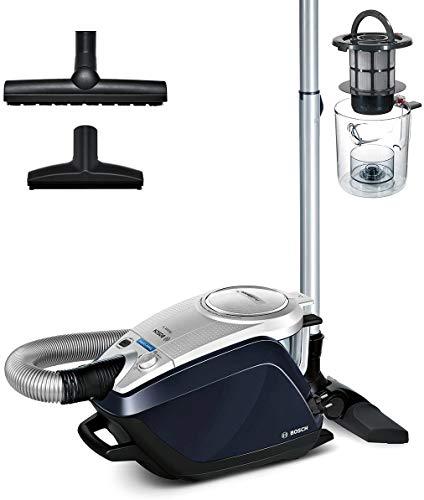 Bosch Staubsauger beutellos Relaxx'x ProSilence Plus BGS5BL432, extra leise, ideal für Allergiker, Hygiene-Filter, Bodendüse für Parkett, Teppich, Fliesen, Selbstreinigung, 700 W, silber