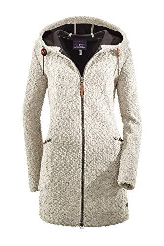 G.I.G.A. DX Damen Roshana Strickparka/Strickmantel/Parka In Strickoptik Mit Kapuze, Off-White, 44