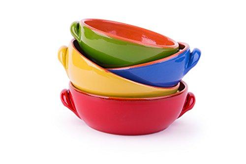 Excelsa Antichi Sapori Set Casseruole, Ceramica, Multicolore, 4 unità