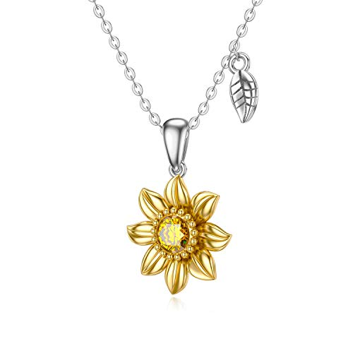 Sunflower Gold Necklace