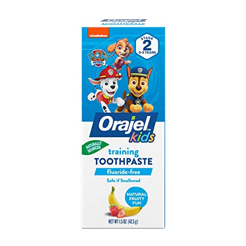 Orajel Paw Patrol Toddler Training Toothpaste, Tooty Fruity, 1.5 Oz (Package May Vary)