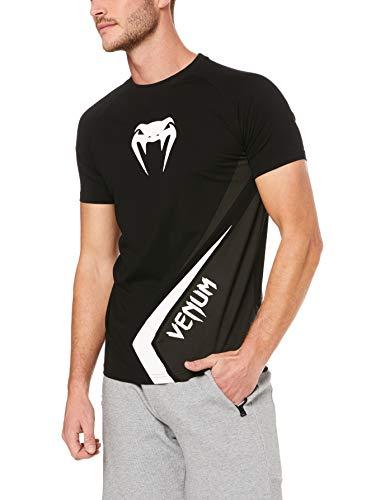 Venum Contender 4.0 T-Shirt Homme, Noir/Gris/Blanc, S