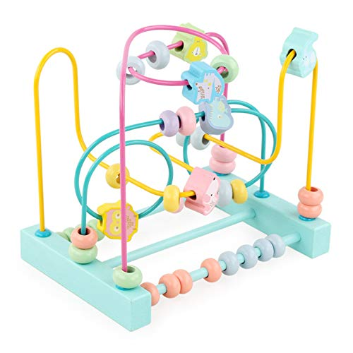JenLn Actividad de Juguetes de Cubo Desarrollo Educativo Toy Bead Maze Shape Claser Regalo para niños Juguetes de Aprendizaje Preescolar (Color : Multi-Colored, Size : One Size)