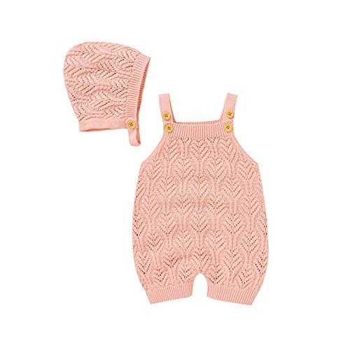 Conjunto de mameluco de verano para bebés recién nacidos y niñas, juego de regalo de 2 piezas - rosa - 12 -18 meses