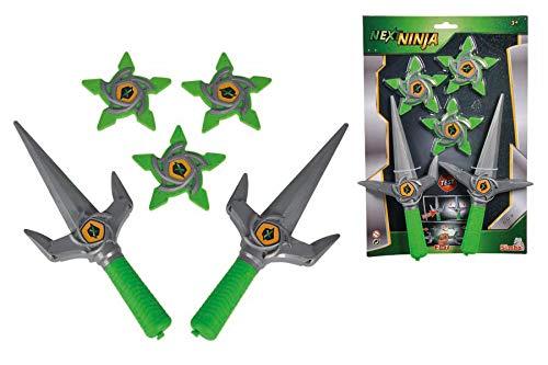 Simba Next Ninja 108042239 - Cuchillo de Juguete con Tres Estrellas de Lanzamiento, con función mecánica