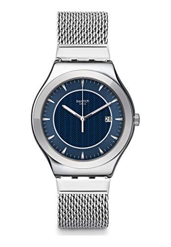 Swatch Reloj Analógico para Hombre de Cuarzo con Correa en Acero Inoxidable YWS449MB