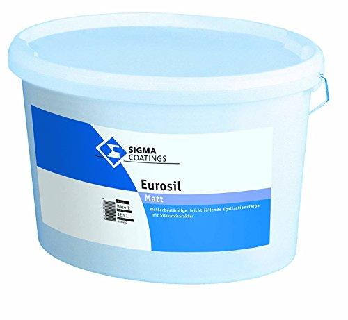 SIGMA Eurosil Siliconharzmodifizierte Fassadenfarbe Weiß Matt 12,5 Liter