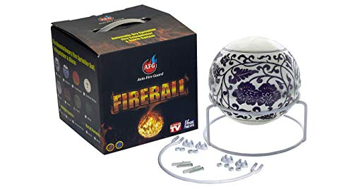 Fireball Automatic Fire Extinguisher Ball with Stand and Sign Dutch Design