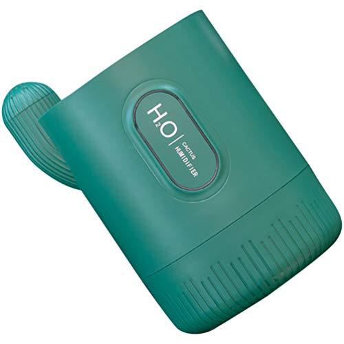MILISTEN Mini Luftbefeuchter USB Luftbefeuchter Spray Luftbefeuchter Kaktusform für Auto Büro nach Hause (Grün)