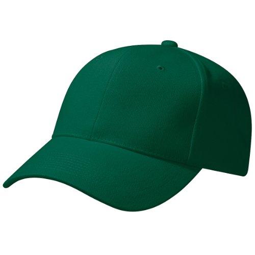 Beechfield - Casquette de Baseball 100% Coton épais - Adulte Unisexe (Taille Unique) (Vert forêt)