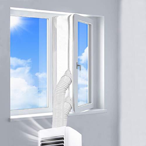 400CM Guarnizione Universale per Finestre per Condizionatore Portatile, Asciugatrice, AirLock Per Tutti Condizionatori Portatili | Hot Air Stop – Facile da Installare, Senza Bisogno Di Perforazioni