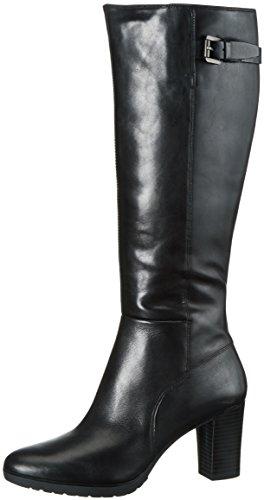 Geox D643WC00043 - Botas altas con tacón para mujer, color Negro (Black C9999), talla 40 EU