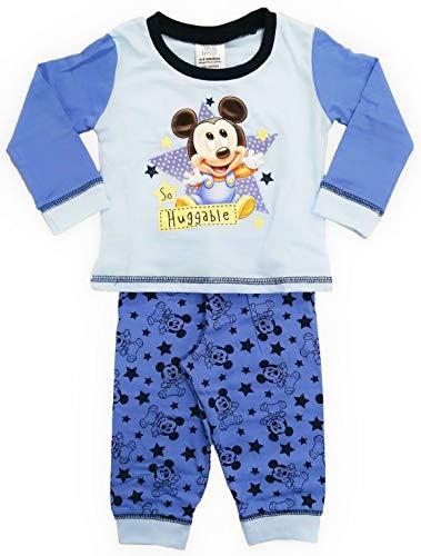 Disney Baby Jungen Schlafanzug Mickey Mouse Gr. 80, Micky Maus