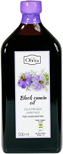 Aceite de comino negro crudo prensado en frío Ol'Vita 500 ml