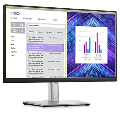 Dell Professional 21.5 inch Full HD Monitor - Wall Mountable, Height Adjustable, IPS Panel with HDMI,VGA DP & USB Ports - P2222H (Black)