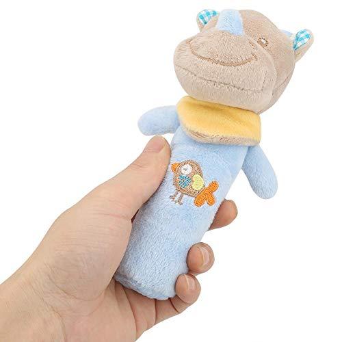 Juguete del bebé Sonajero, Cuna recién nacida Muñeca Suave Bebé Estilo Lindo Animal de la historieta Bebé Sonajero infantil de peluche de peluche para niños (Rhinoceros)