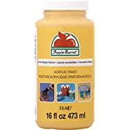 Apple Barrel Acrylic Paint in Assorted Colors (16 Ounce), 21131 Bright Yellow