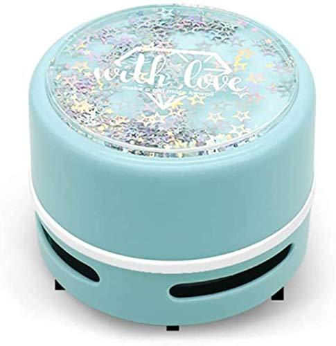 JUJ® Desktop Staubsauger Mini Handstaubsauger für Home Office Car | Batteriebetriebener Tastaturreiniger Lila-Blau