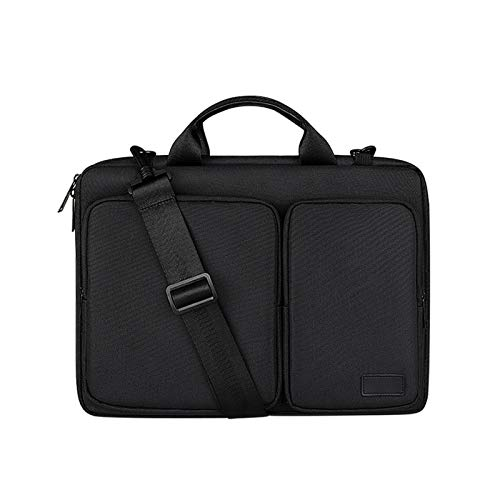 YNLRY Shockproof Laptop Bag 13.3 14 15.6 16 Inch Notebook Case Sleeve For Macbook Xiaomi Air Pro Hp13 15 Shoulder Briefcase Women Bags (Color : Black, Size : 13 inch)