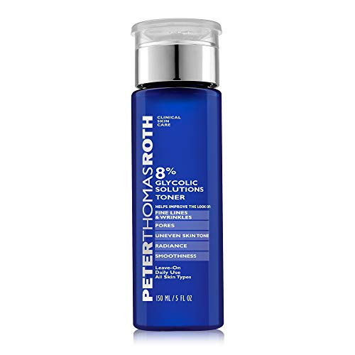 reviva peter thomas roth glycolic acids Peter Thomas Roth 8% Glycolic Solutions Toner, Exfoliating Toner with Glycolic Acid and Witch Hazel, Helps Brighten, Clarify and Smooth Skin's Appearance
