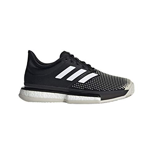 Adidas Solecourt Boost W Clay, Zapatillas de Deporte Mujer, Negro Negro 000, 36 EU