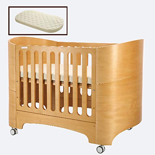 Great Deal! Xinjin 4 in 1 Fixed Side Convertible Crib Changer, Easily Converts to Toddler Bed Day Be...