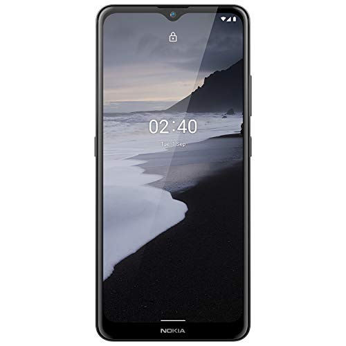 Nokia 2.4 | Android 10 | Unlocked Smartphone | 2-Day Battery | Dual SIM | US Version | 2 32GB | 6.5-Inch Screen | Charcoal
